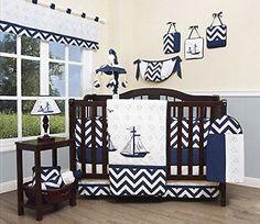Nursery Bedding Sets 162040: Geenny Baby Nautical Explorer 13 Piece Nursery Crib Bedding Set -> BUY IT NOW ONLY: $128.15 on eBay!