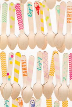 Colorful Ice Cream Spoons!