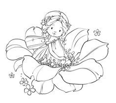 ♡Marina Fedotova☆Coloring pages♡ Fairy Coloring Pages, Adult Coloring Pages, Coloring Books, Whimsy Stamps, Digital Stamps, Colorful Pictures, Cute Art, Embroidery Patterns, Barn