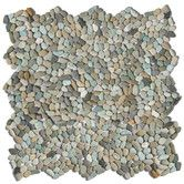 "Found it at Wayfair - Decorative Pebbles 12"" x 12"" Interlocking Mesh Tile in Cayman Blue"