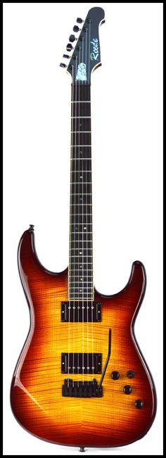 Super strat, Auburn Burst Electric Guitar And Amp, Electric Guitars, Guitar Amp, Custom Guitars, Playing Guitar, Auburn, Acoustic, Instruments, Musical Instruments
