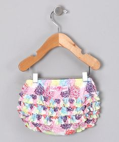 Take a look at this Bold Dahlia Ruffle Diaper Cover - Infant & Toddler by RuffleButts on #zulily today!
