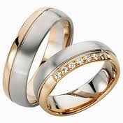 mens two tone brushed wedding rings - Google Search
