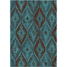 Our Melodic Majestically Aqua area rug showcases a delightful vintage style with a dramatic pattern combined with a beautiful blend of vibrant teal and rich brown.  The fashionable over-dyed look is one of today's hottest trends for any home d�cor.
