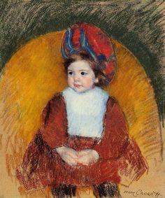 Margot in a Dark Red Costume - Mary Cassatt 1902
