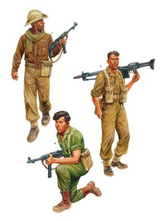 Israeli Paratroopers, 1948-55 Military Art, Military History, Army Uniform, Military Uniforms, Military Modelling, British Soldier, Paratrooper, Modern Warfare, Armed Forces