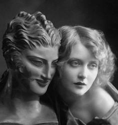 E.O. Hoppé - Sculptured and Living Beauty, 1924- Robert Avrech The photo is of actress Mary Nolan a Ziegfeld girl who went to Hollywood found fame, and then self-destructed via abusive men and heroin. Her best films are West of Zanzibar, 1928 and Desert Nights, 1929. She committed suicide in 1948, age 42.