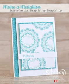 nice people STAMP!: Make a Medallion & Glimmer Paper Card with VIDEO by Canadian Stampin' Up! Demonstrator Allison Okamitsu. www.NicePeopleStamp.com