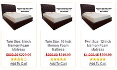 Lasting Impressions Foam / This is an example of the products page for Twin Size Memory Foam Mattress category from http://www.lastingimpressionsfoam.com .