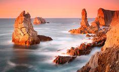 Cliffs Coast Landscapes Paisagens marítimas