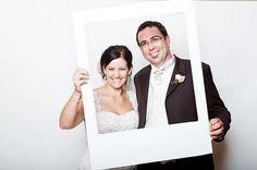 How fun for a party!! Polaroid frame