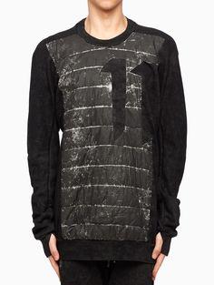 Padded sweatshirt from the F/W2015-16 Boris Bidjan Saberi 11 in black