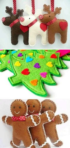 New Diy Christmas Felt Ornaments Natal Ideas New Diy Christma. - New Diy Christmas Felt Ornaments Natal Ideas New Diy Christmas Felt Ornaments Na - Felt Christmas Decorations, Felt Christmas Ornaments, Handmade Christmas, Christmas Holidays, Tree Decorations, Christmas Nativity, Beaded Ornaments, Christmas Projects, Holiday Crafts