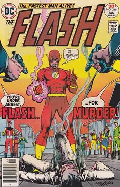 "Flash is a name shared by several fictional comic book superheroes from the DC Comics universe. Created by writer Gardner Fox and artist Harry Lampert, the original Flash first appeared in Flash Comics #1 (January 1940).  Nicknamed the Scarlet Speedster, all incarnations of the Flash possess ""super-speed"", which includes the ability to run and move extremely fast, use superhuman reflexes and seemingly violate certain laws of physics."