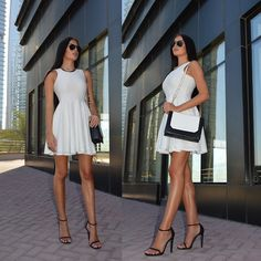 Laura Badura - River Island Dress, Charles And Keith Bag, Stuart Weitzman Heels, Ray Ban Sunglasses - Dress to Impress!