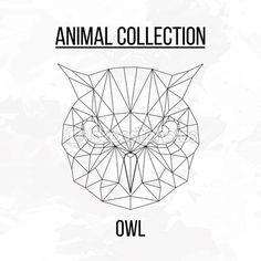 Голова геометрические сова — стоковая иллюстрация #106488924