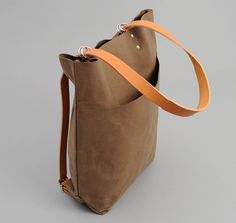 CANVAS SCHOOL BAG, KHAKI :: HICKOREE'S