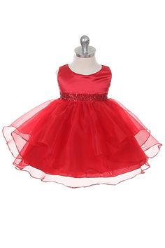 Chic Baby Red Organza Christmas Special Occasion Dress Baby Girl Great Dress for special occasion and flower girl. Red Flower Girl Dresses, Girls Easter Dresses, Baby Girl Dresses, Baby Dress, Girl Outfits, Flower Girls, Baby Girls, Dresses For Less, Fall Dresses