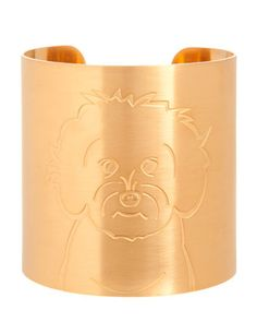 GOTTA HAVE IT!! 18k+Gold-Plated+Maltipoo+Dog+Cuff+by+K+Kane+at+Neiman+Marcus.