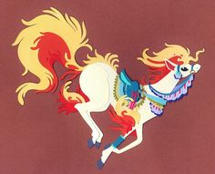 cut paper ponyta by whatwith.deviantart.com