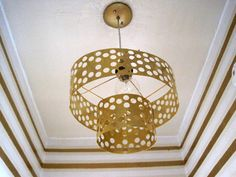 chandelier made of metal sheets - great diy idea #diy #chandelier #brass