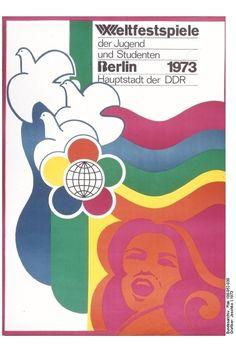 Plakat der X. Weltfestspiele der Jugend und Studenten in Ost-Berlin 1973