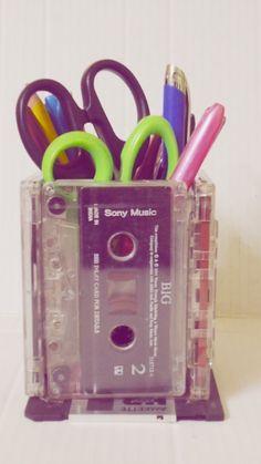 Cassette Tape Pencil Holder