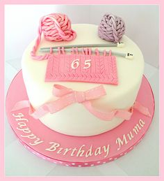 Knitting Themed Cake by Heavenly-Cupcakes, via Flickr