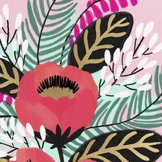 Pattern Illustration, Botanical Illustration, Gouache Painting, Aboriginal Art, Floral Illustrations, Flower Art, Printing On Fabric, Art Projects, Abstract Art