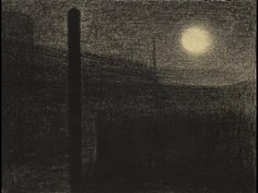 georges seurat. factories by moonlight