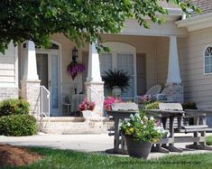 front porch patios - love the pillars