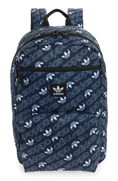 Adidas Originals Monogram National Backpack In Navy Monogram 6e4466efa33