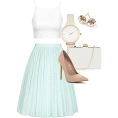 A fashion look from March 2015 featuring square neck crop top, embellished skirts and pointed heel pumps. Browse and shop related looks. Embellished Skirt, Shopping Spree, Polyvore Outfits, Pastels, Pumps Heels, Must Haves, Fashion Looks, Crop Tops, Simple