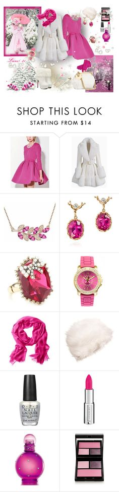 """winter queen"" by lumi-21 ❤ liked on Polyvore featuring Dean Harris, Betsey Johnson, Juicy Couture, Banana Republic, OPI, Givenchy, Britney Spears and Surratt"