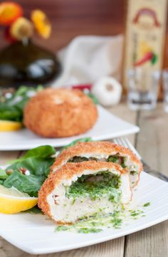 This Chicken Kiev crispy on the outside and moist and tender on the ...