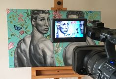 """Filming a wee promo piece for my painting """"Innocence & Experience"""" today!"""