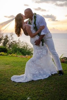 """Dwayne """"the Rock"""" Johnson and longtime love Lauren Hashian tied the knot during an intimate ceremony in Hawaii on Aug. The Rock Dwayne Johnson, Dwayne The Rock, Dwayne Johnson Daughter, Rock Johnson, Michael Ealy, Christina Hendricks, Heidi Klum, Fast And Furious, Lauren Hashian"""