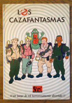 Los Cazafantasmas - Juego de Rol - Ghostbusters Ghostbusters, Shops, Peanuts Comics, Comic Books, Baseball Cards, Tv, Ghost Hunting, Role Play, Cartoon