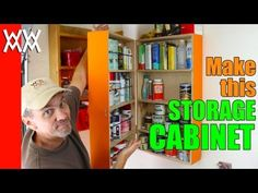 Easy wall-mounted storage cabinet. Organize your garage or workshop!
