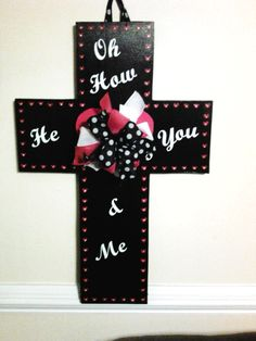 Cross made for a friend Cross Door Hangers, Crosses, You And I, You And Me