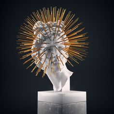 xandt:  Ray Apollo (Concept / Work in Progress), 2013-solid gold, marble and concrete