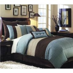 Image detail for -... SET / BED IN BAG – CHOCHOLATE BROWN / BLUE – KING SIZE BEDDING