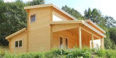 Holzhaus Aufbau ist beendet - Ferienhaus Mekong