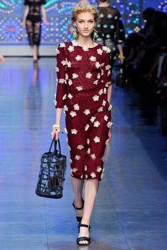 Morpheus Boutique  - Burgundy Knit Floral 3/4 Sleeve Celebrity Pencil Hem Dress