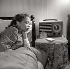 Oyente de radio, 1942.