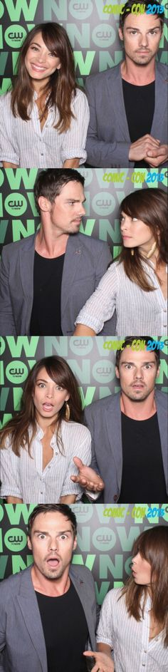 Jay Ryan and Kristin Kreuk at the boscobooth #BatBSDCC #BatB