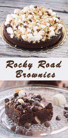 Rocky Road Brownies Rich brownies with marshmallows and nuts Heavenly treats