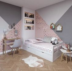 cute and girly bedroom decorating tips for girl 14 - 43 Cute and Girly Bedroom Ideas Decorating Tips for Girl Ikea Kids Bedroom, Modern Kids Bedroom, Girls Bedroom, Sister Bedroom, White Bedroom, Mirrored Bedroom, Oak Bedroom, Large Bedroom, Bedroom Decorating Tips
