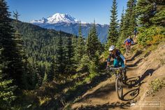 Mount Rainier is the dominant feature on the horizon of every ride on 410.
