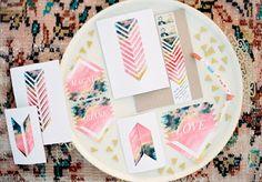 Geometric Wedding Stationary Inspiration